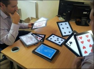 iPad as cards for poker