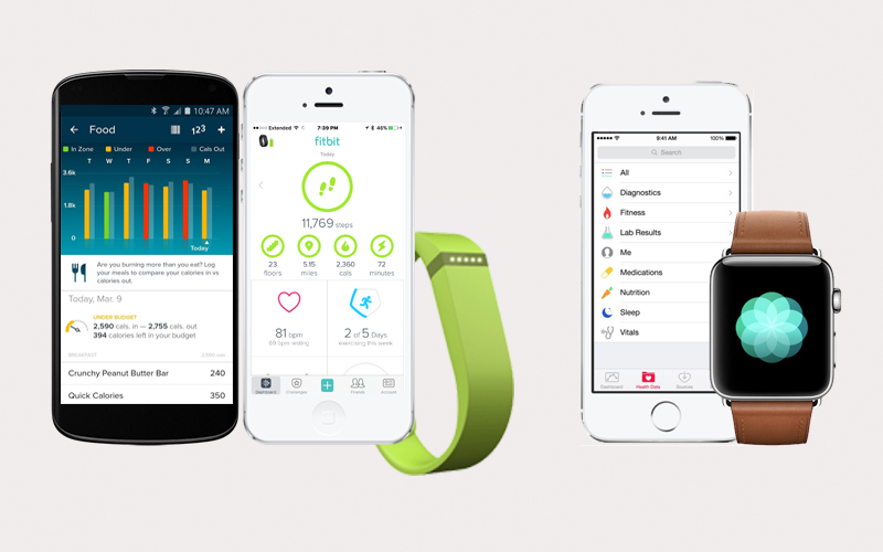 Apple vs Fitbit app
